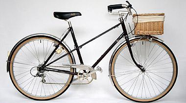 Modified/ Alps Mixte touring bike → City bike/ Ms.Yasutani from Osaka/ 2008.9.4